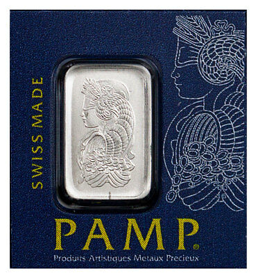 PAMP Fortuna Snap Off 1g Platinum Bar In Assay from 25 g Snap Off Sheet SKU55067