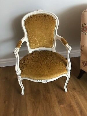 Antique victorian chair, wood and upholstered