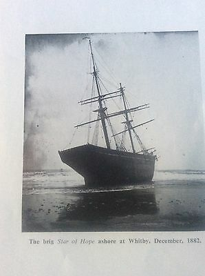 Photographic Prints Yorkshire Shipwrecks The brig Star of Hope Whitby 1882 + 2