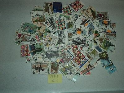 GB-1860-Commemorative Stamps 1971-1980 clean and off paper - a bargain