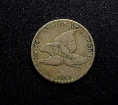 1858 Flying Eagle Cent -Small Letters- Very Fine+
