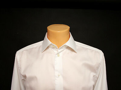 "Eton Sz 16"" / 41cm Mens White Classic VGC Cotton Long Sleeve Shirt"