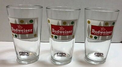 Libbey BUDWEISER Retro Collector's Series Pint Glasses LOT of 3