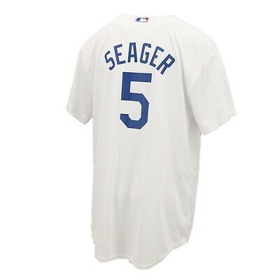 Los Angeles Dodgers MLB Majestic Cool Base Youth Size Corey Seager Jersey New