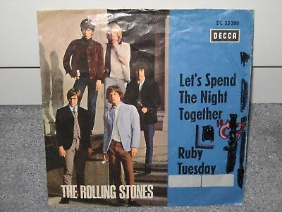 """Single The Rolling Stones """"Let´s spend the Night together/Ruby Tuesday"""""""