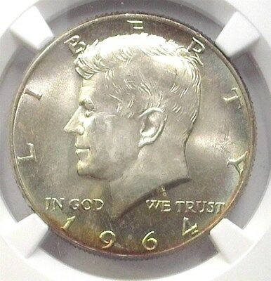 1964 Kennedy Silver 50 Cents Ngc Ms66+ Rainbow Price Guide Lists At $250