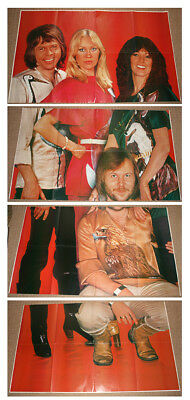 ABBA - Original LIFESIZE poster in 4 parts