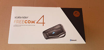 Cardo Scala Rider Freecom 4 Communication Kit Single Intercom For 1 Person NEW