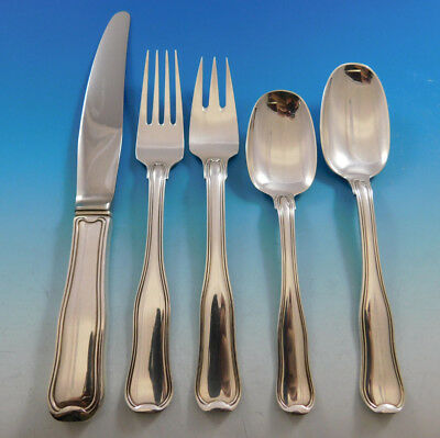 Old Danish by Georg Jensen Sterling Silver Flatware Set 8 Service 40 pcs Dinner