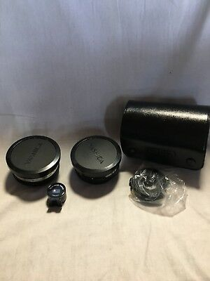 Yashica Aux Telephoto And  Aux Wide Angle Lenses And Tele-Wide Finder In Case
