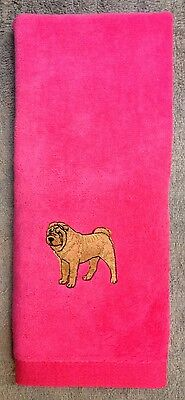 Shar Pei, Hand Towel, Embroidered, Custom, Personalized, Dog