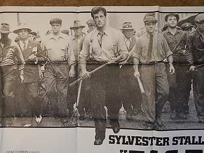F.I.S.T.  Sylvester Stallone 1978 ORIGINAL SUBWAY 5 ft. MOVIE POSTER