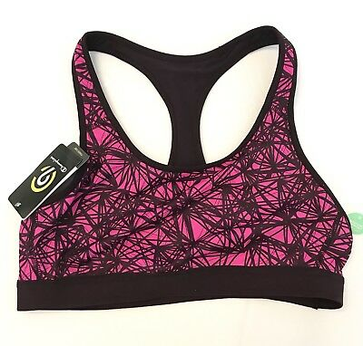 champion sports bra large Duo Dry Pink And Black