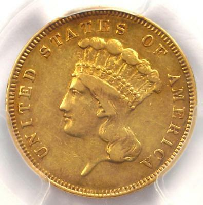 1862 Three Dollar Indian Gold Coin $3 - Certified PCGS XF Details - Rare Date!