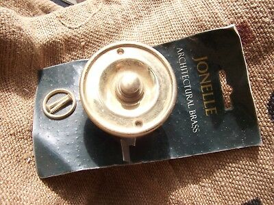 """Solid Polished Brass Door Bell Push, Jonelle Architectural, Round 2 1/2"""""""