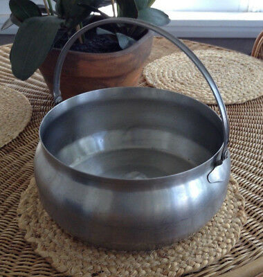 """Large Handle Stainless Steel Milk Stew Cooking 11"""" Dairy Camping Pot Pail"""