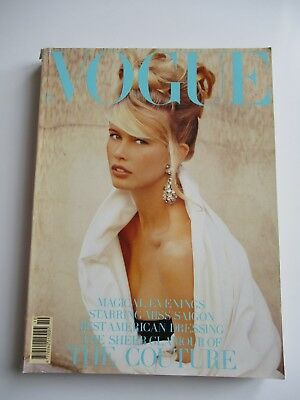 Vogue Magazine October 1989 - 476 pages - Cover Claudia Schiffer