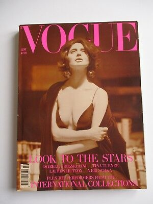Vogue Magazine Sept 1989 - 420 pages - Cover Isabella Rossellini