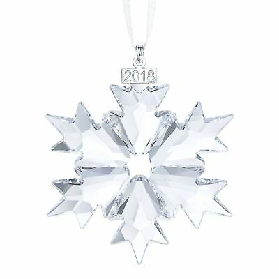 Swarovski 2018 annual Christmas Ornament 5301575 New in Original Box Snowflake