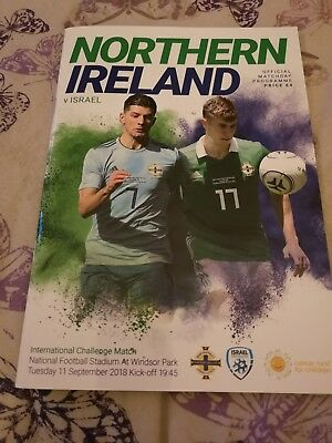 N.ireland V Israel Friendly International 11Th September 2018.(Sell Out).mint