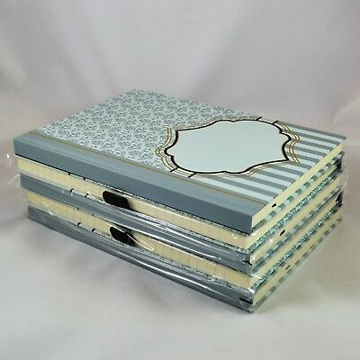 Lot of 5 Hard Bound LEEDS Journal Books 9.5 x 7 100 Lined Pages French Blue New