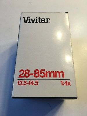 Vivitar 28-85mm f3.5-f4.5 1:4X Macro Zoom for Canon FD Box Packaging Papers Only