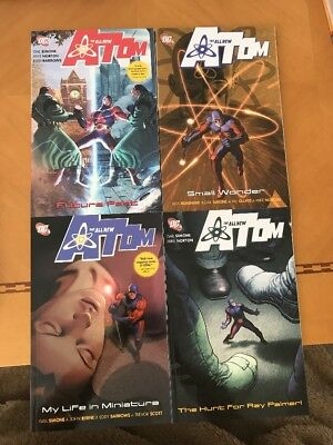 Lot of 4 DC Comics Trade THE ALL NEW ATOM Simone~Remender~TPB Never Read