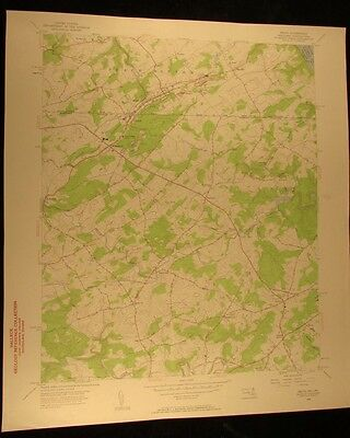 Delta Maryland PA. 1944-61 vintage USGS Topographical chart