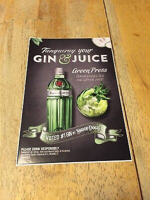 """Store Display Door Decal Tanqueray Your Gin & Juice """"Voted #1 Gin by Snoop Dogg"""""""