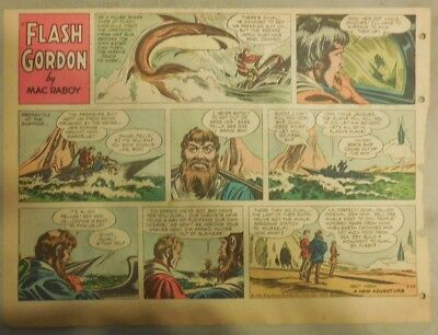 Flash Gordon Sunday Page by Mac Raboy from 3/25/1956 Half Page Size