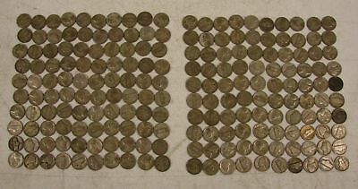 1942-1945 US 35% Silver WWII War Nickels 5 Cent Lot 200-Coins, 5 Rolls, $10 Face