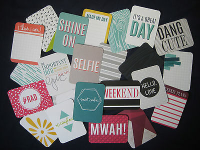 """'prismatic' Project Life Cards By Becky Higgins - 3"""" X 4"""" - 23 Cards"""