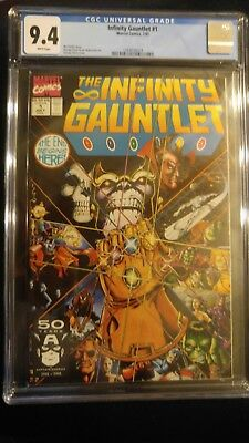 '91 Infinity Gauntlet  # 1 Graded 9.4 By Cgc -Mint, Everybody From The Movie