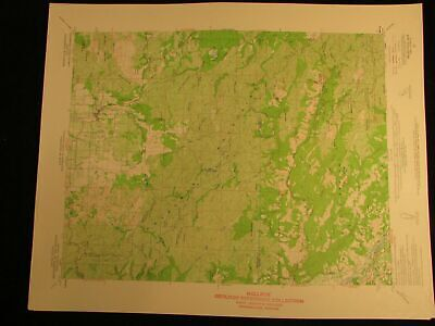 Kelseyville California 1961 vintage USGS Topographical chart map