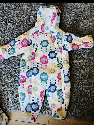 Gorgeous floral print ex m&s baby girl coat snowsuit all in one RRP £22+