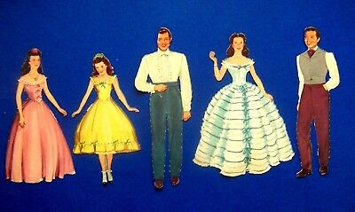 Vintage Original - Gone With The Wind Paper Dolls By Merrill Publishing Co. 1940