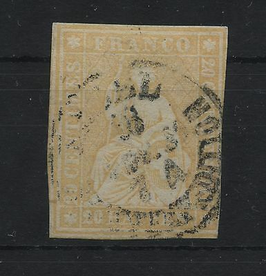 Schweiz Switzerland Strubel 20 Rp. Zst.25D(Hermann 25B3)  CHF 240