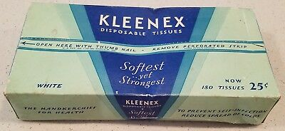 Very Early Kleenex Tissues Unopened Box 25 Cents