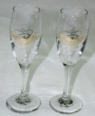 Set 2 Princess Cruise Line Champagne Glasses Wedding Anniversary Congratulations