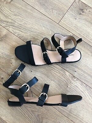 811302361be NEW J Crew Buckled Gladiator Leather Sandals Sz 11 Black Shoes  140 J.Crew  H7326