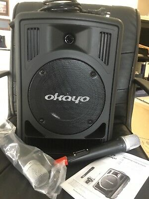 OKAYO DUAL UHF Wireless Portable 60W PA System model C7182C