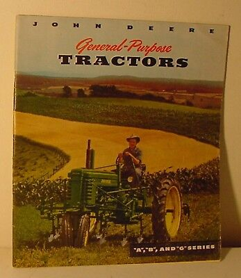 John Deere General-Purpose Tractors A B & G Series Catalog 38 Page NICE!