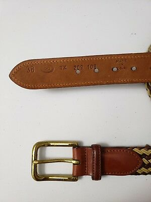 Forest Mens Wide Woven Leather Belt BL170
