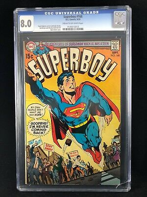 Superboy #168 CGC High Grade Neal Adams cover, early Bronze Age Beauty