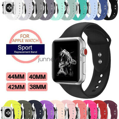 Soft Silicon Sport Wristband For Apple Watch Band Strap Series 5 4 3 40/44mm 42