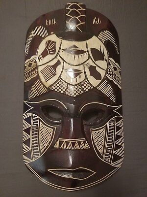 Handcrafted Tribal Mask From Fiji