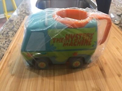 Scooby Doo Mystery Machine Mug Cup Hard Plastic Applause Excellent Condition!