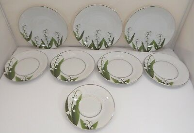 Quantity of Bernardaud Galerie Muguet Lilly of the Valley China Plates & Saucers