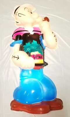 "Vintage Head Lites POPEYE Plastic Sculpture Blow Mold Wall Light 28""-Works Great"