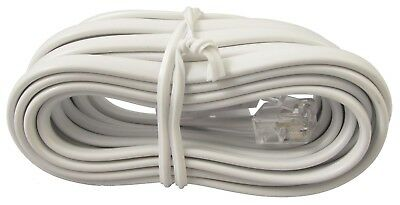 White RJ11 to BT Plug in (BT431A) 4 wire Crossover Telephone Cable - 3m 3 METRES